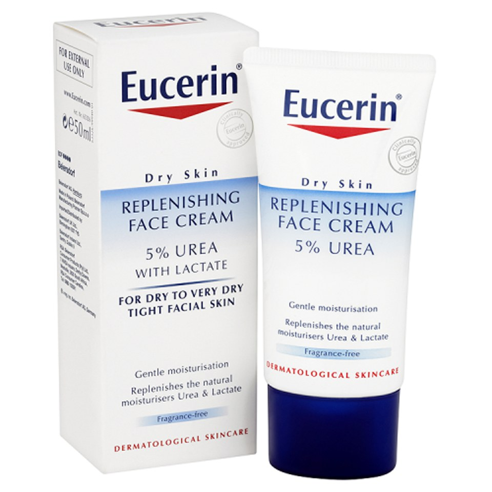 eucerin dry skin replenishing face cream 5 urea with lactate 50ml free delivery. Black Bedroom Furniture Sets. Home Design Ideas