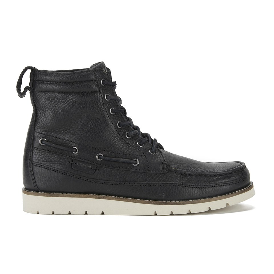 polo ralph s sidney lace up grain leather boots