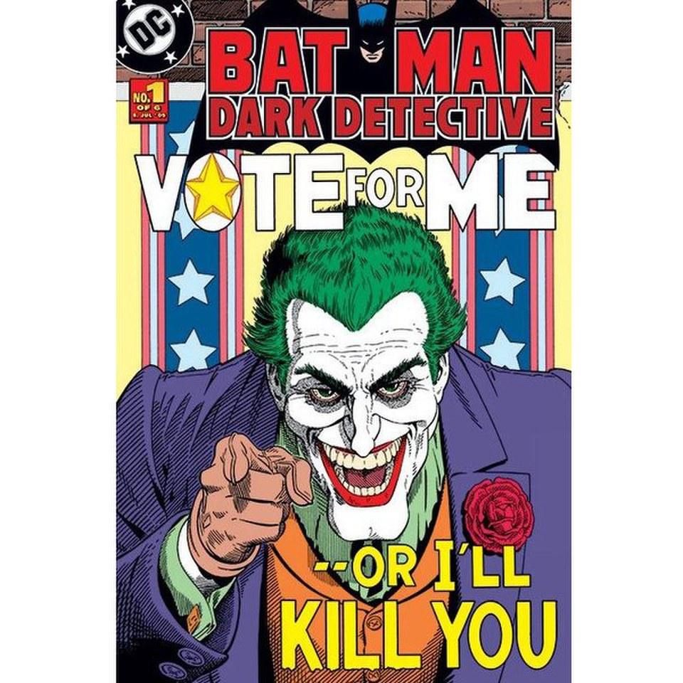 DC Comics Batman Joker Vote For Me - 24 x 36 Inches Maxi Poster | My ... Joker Comic Poster