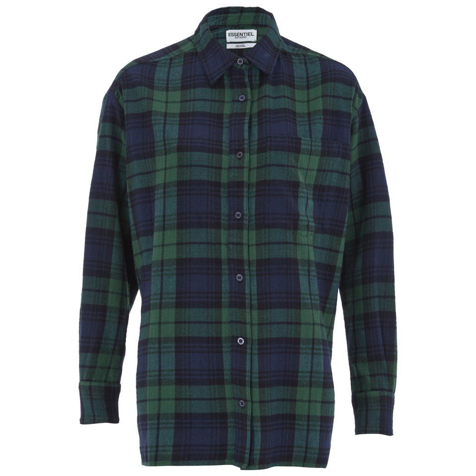 Essentiel Antwerp Women 39 S Flannel Lace Shirt Green