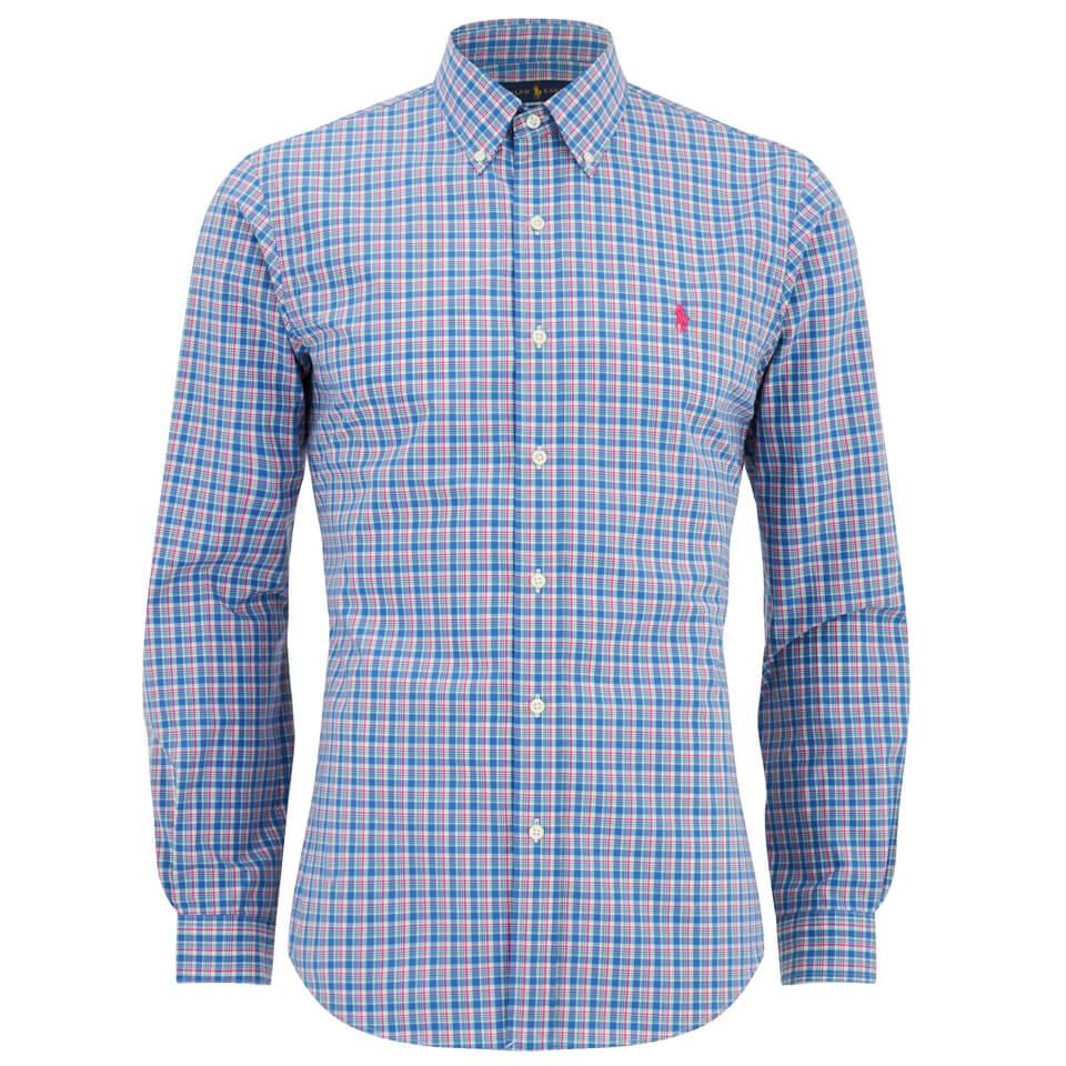 Polo Ralph Lauren Men S Slim Fit Checked Long Sleeve Shirt