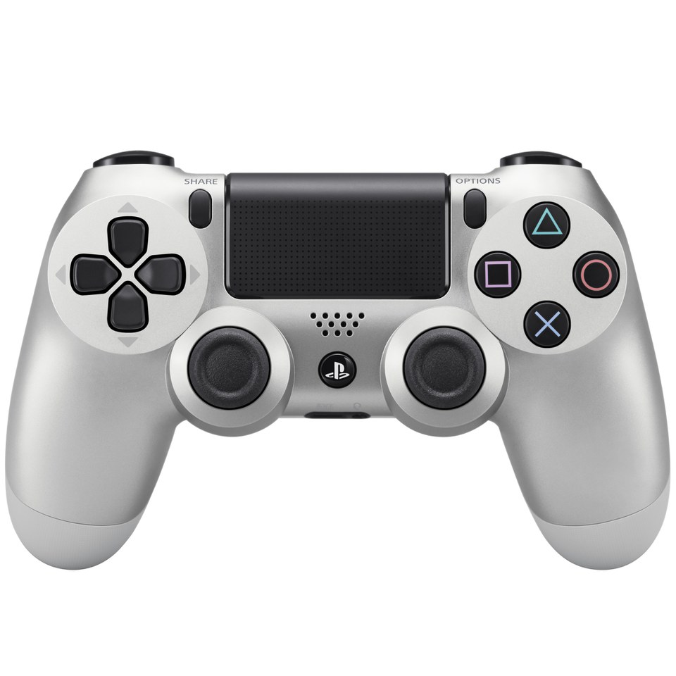 Game Controllers For Ps4 : Sony playstation dualshock controller silver games