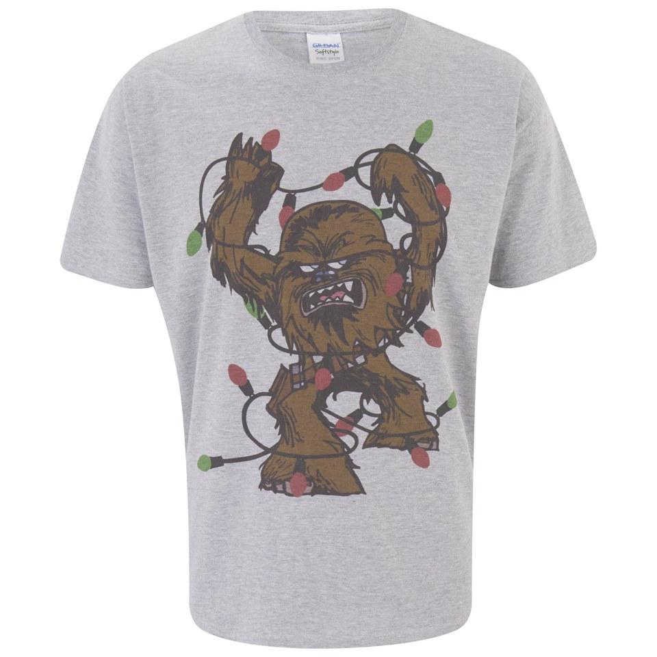 Star Wars Men's Chewbacca Lights Christmas T-Shirt - Light ...