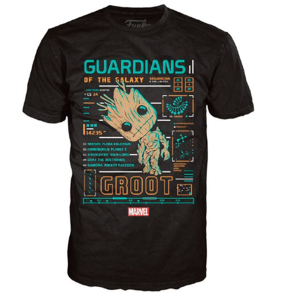 Marvel Guardians Of The Galaxy Groot Line Up Pop T Shirt