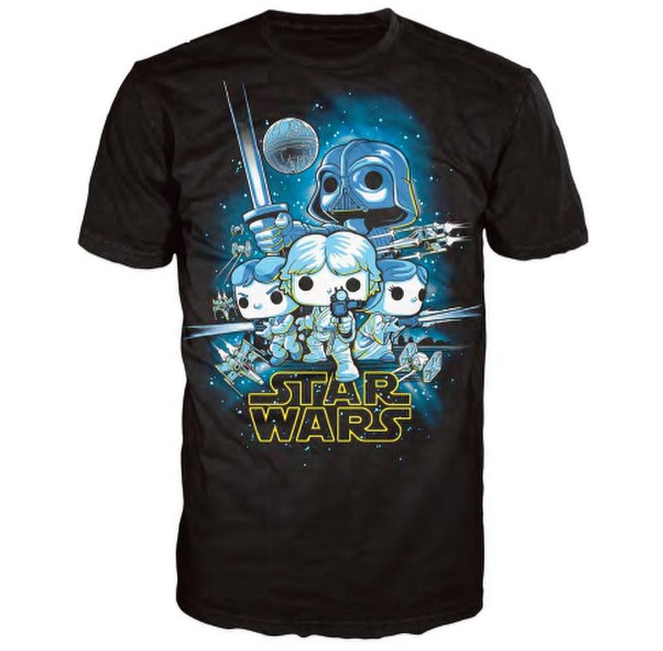 Star Wars A New Hope Poster Pop! T-Shirt - Black ...