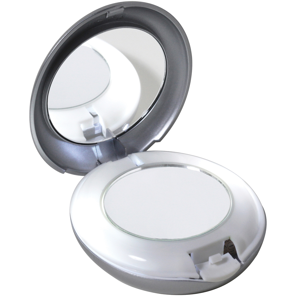 Tweezerman Led Lighted 10x 1x Compact Mirror Hq Hair