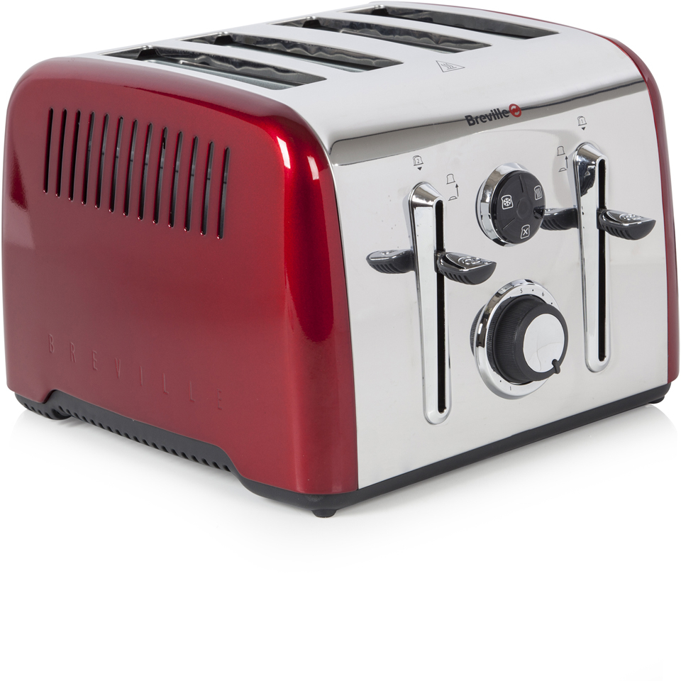 breville vtt724 aurora 4 slice toaster red iwoot. Black Bedroom Furniture Sets. Home Design Ideas