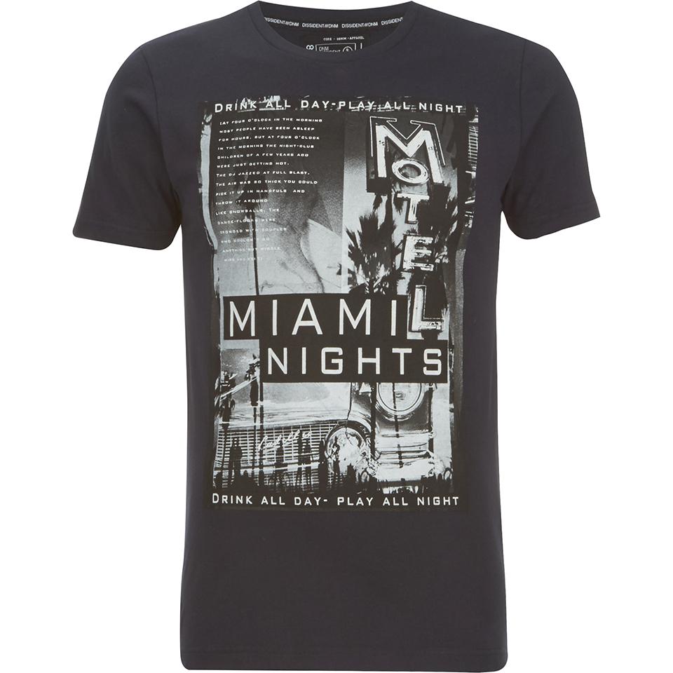 Dissident Men 39 S Miami Nights Graphic Print T Shirt Dark