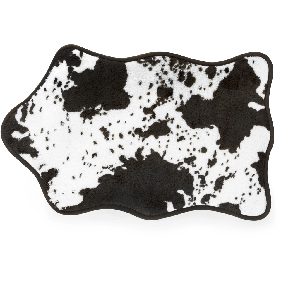 Black And White Rug Ebay Uk: Cowhide Bath Rug - Black/White