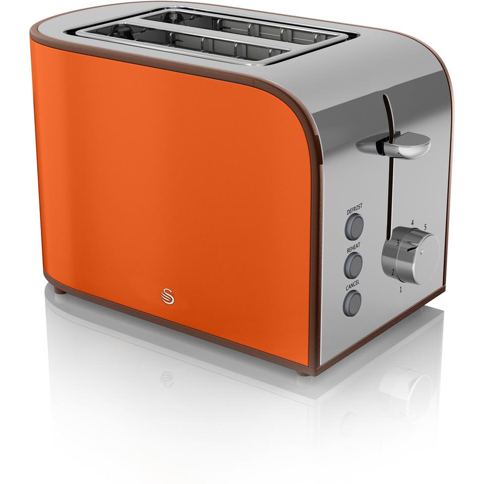 Swan ST17020ON 2 Slice Retro Toaster - Orange | IWOOT
