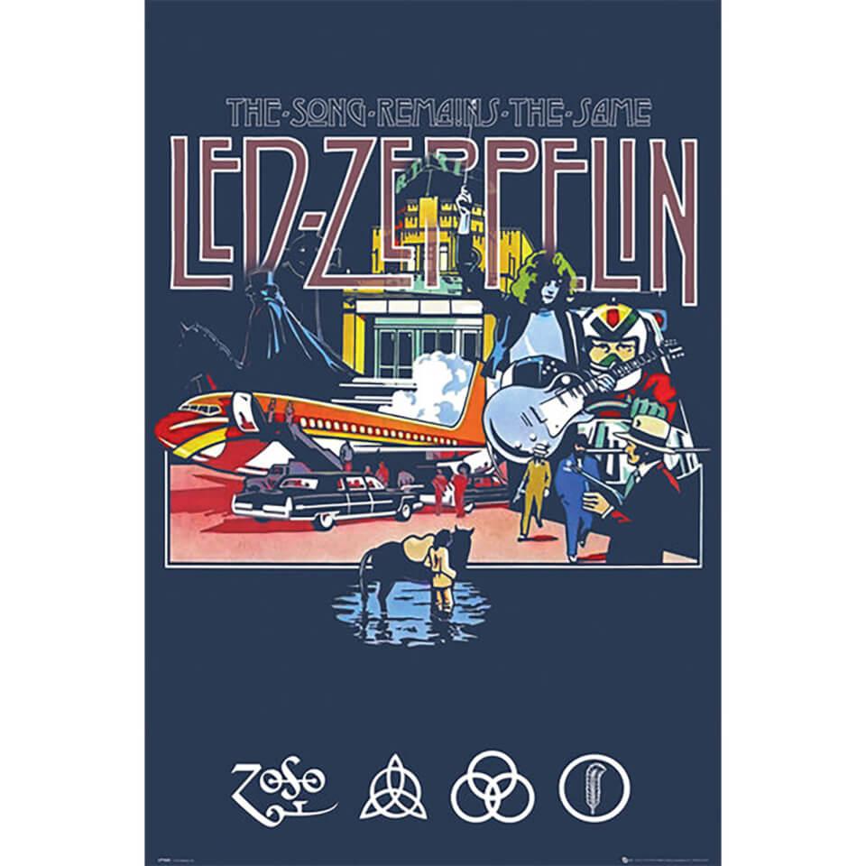 Framed led zeppelin poster