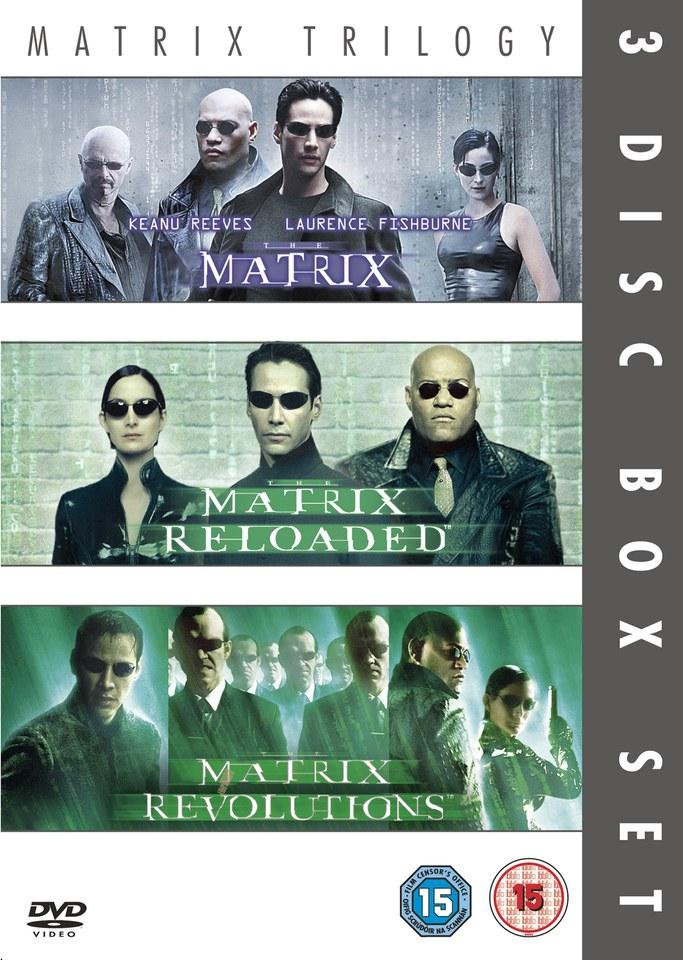 The Matrix Matrix Reloaded Matrix Revolution Dvd Zavvi