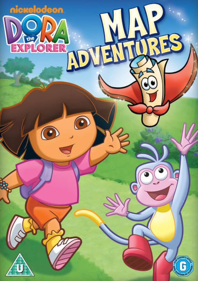 Dora The Explorer Dora S Map Adventure Dvd Zavvi