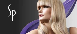 Wella SP image of blonde woman with a bold fringe