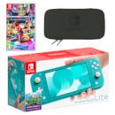 Nintendo Switch Lite (Turquoise) Mario Kart 8 Deluxe Pack