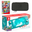 Nintendo Switch Lite (Turquoise) Super Mario Odyssey Pack