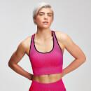 MP Women's Contrast Seamless Sports Bra - Super Pink - XS