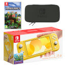 Nintendo Switch Lite (Yellow) Minecraft Pack
