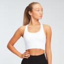MP Women's Shape Seamless Ultra Cross Strap Sports Bra - White