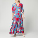 Calvin Klein Women's Print 3/4 Sleeve Wrap Maxi Dress - Multi