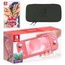 Nintendo Switch Lite (Coral) Pokémon Shield Pack