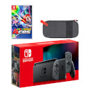 Nintendo Switch (Grey) Mario Tennis Aces Pack