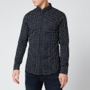 Armani Exchange Men's All Over Print Long Sleeve Shirt - Navy