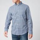 Gant Men's Tartan Shirt - Pacific Blue