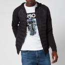 Barbour International Men's Albie Baffle Hooded Knit Jacket - Black Marl