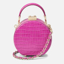 Aspinal of London Women's Micro Deep Shine Small Croc Hat Box Bag - Hibiscus