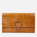 Aspinal of London Women's Classic Travel Wallet Small Croc Bag - Vintage Tan
