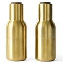 Menu Bottle Grinder - Brushed Brass - Set of 2