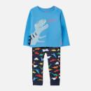 Joules Babies' Byron 2 Piece Set - Blue Dino