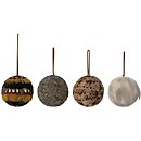 Bloomingville Feather Christmas Bauble - Set of 4