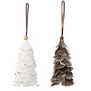 Bloomingville Feather Christmas Tree Decoration - Set of 2