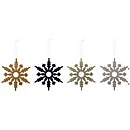 Bloomingville Snowflake Christmas Decorations - Set of 4