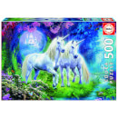 Unicorns in the Forest Jigsaw Puzzle (500 Pieces)