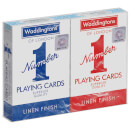 Waddingtons Number 1 Playing Cards - Red and Blue Twin Pack