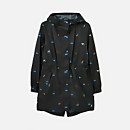 Joules Women's Golightly Printed Waterproof Packaway - Black Cat