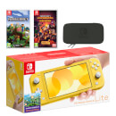 Nintendo Switch Lite (Yellow) Minecraft Double Pack