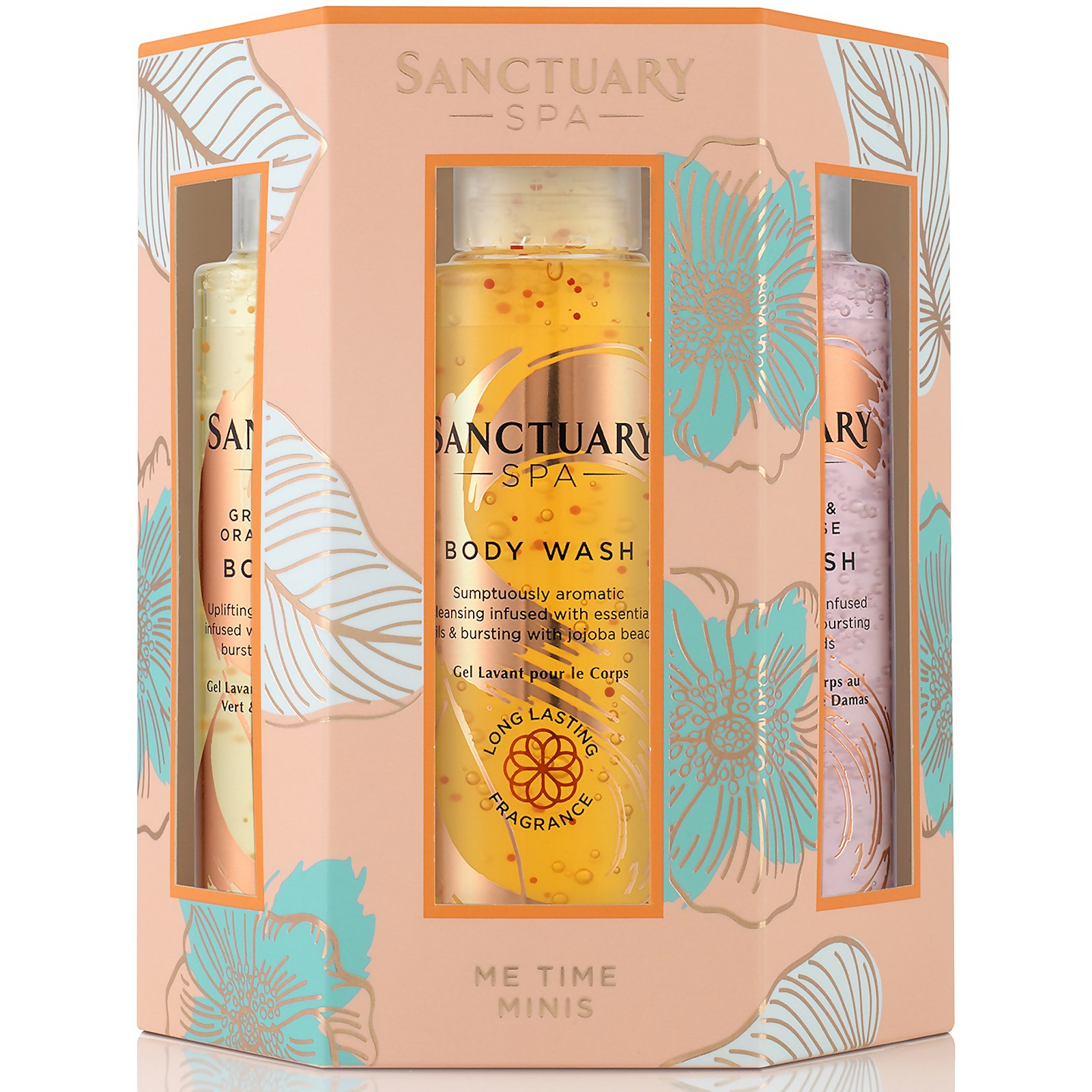 Me Time Travel Size Body Wash Minis Gift Set Sanctuary Spa