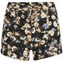 Lavish Alice Women's Dark Floral Shorts - Multi