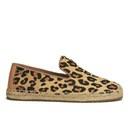 UGG Women's Sandrinne Calf Hair Leopard Slip On Espadrille Shoes - Chestnut Leopard
