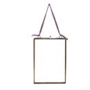 """Nkuku Kiko Antique Brass Glass Frame - Portrait 7 x 5"""""""