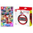 Mario Kart 8 Deluxe Game + Mario Joy-Con Wheel