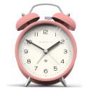Newgate Charlie Bell Echo Silent Alarm Clock - Pink