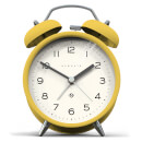 Newgate Charlie Bell Echo Silent Alarm Clock - Yellow
