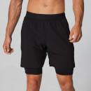 MP Men's Power Double-Layered Shorts - Black