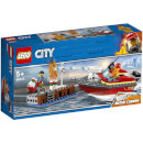 LEGO City: Dock Side Fire Boat Bath Toy with Firemen (60213)