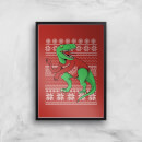 T-Rex Sleeves Art Print